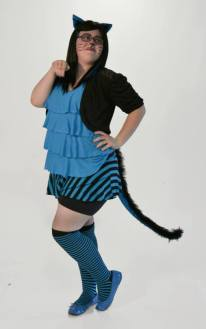 Our spunky blue Cheshire cat