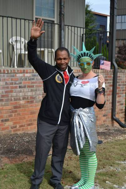 Lady Liberty and Mr. President bonded quickly
