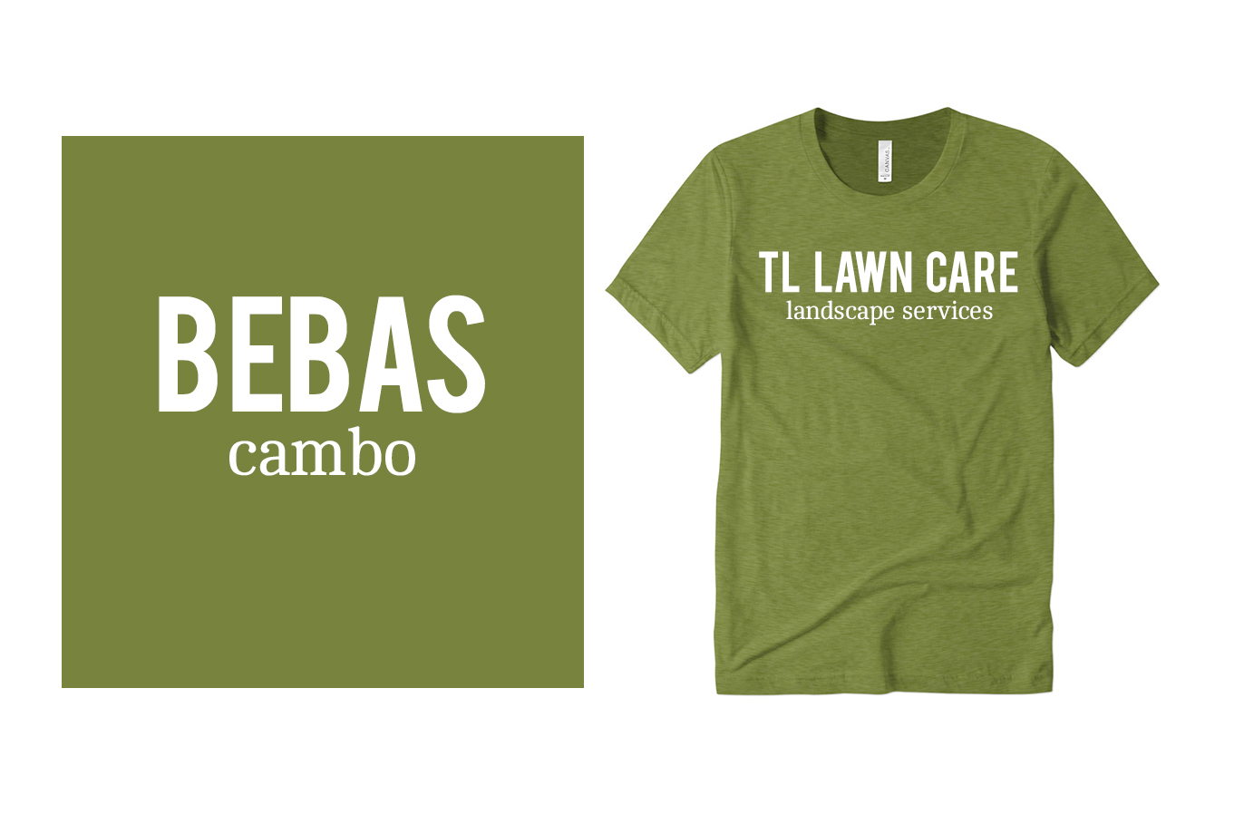 Bebas and Cambo Fonts on Custom T-Shirts
