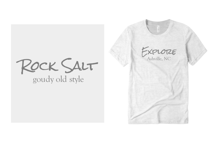 Rocksalt and Goudy Old Style Fonts on Custom T-Shirts