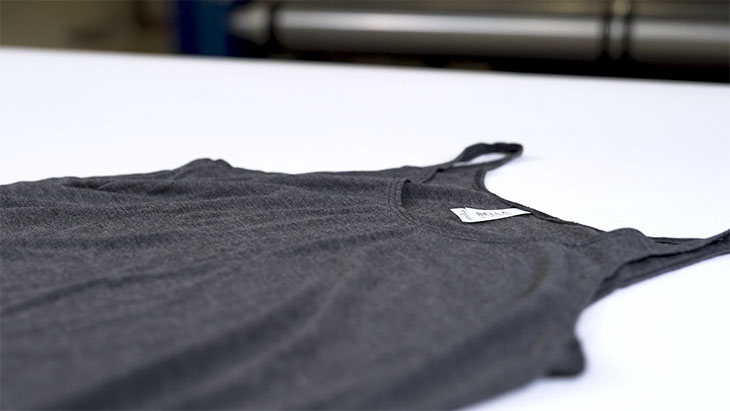 An example of a synthetic blended fabric apparel.